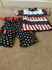 Red Ape Kids 2 Piece Outfit Set Shirt Top And Shorts Sz 6/L Multicolor