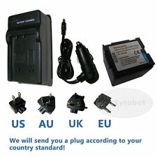 Camcorder Battery + Charger for PANASONIC CGR-DU06 CGR-DU07 CGR-DU14 VW-VBD140