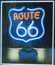 "Neonetics Vintage Look Route 66 Light Neon Sculpture 12""x12"" New"