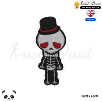 Skull Boy Goth Boy Halloween Embroidered Iron On Sew On PatchBadge