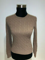 ⭐️ WOMENS RALPH LAUREN BLACK LABEL RLBL  CASHMERE CABLE KNIT SWEATER MEDIUM ⭐️