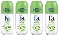 4x Fa Fresh & Dry Green Tea Scent Anti-perspirant Deodorant Roll on for Women