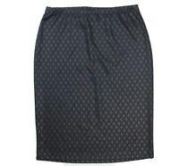 BOBEAU Womens Size XL Black Geometric Diamond Pattern Pencil Skirt