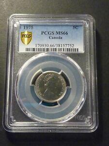 1975 PCGS 5c PCGS Gold Shield MS-66 - Top Pop! (Tied top 3)