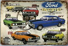 FORD FALCON Rustic Look Vintage Tin Metal Sign Man Cave, Shed-Garage & Bar
