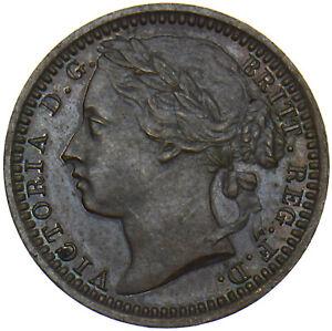1868 THIRD FARTHING - VICTORIA BRITISH BRONZE COIN - VERY NICE