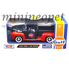 MOTORMAX 79647 1956 FORD F-100 PICK UP TRUCK 1/24 GULF OIL DARK BLUE / ORANGE