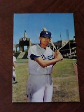 WALLY MOON  Official 1960 DODGERS Postcard  LOS ANGELES COLISEUM  High Grade!