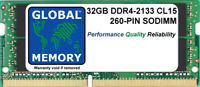 32GB (1x32GB) DDR4 2133MHz PC4-17000 260-PIN SODIMM MEMORY FOR LAPTOPS/NOTEBOOKS