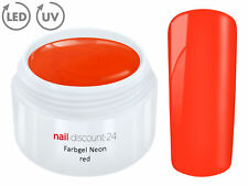 UV LED Farb Gel NEON Red French Color Modellage Nail Art Design Nagel Rot Tips