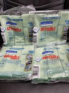 WypAll Microfiber Cloths 15.75 x 15.75in 24 Count Reusable Cleaning Towel Wipes