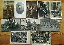 Job Lot 10 WW1 and Earlier Real Photograph Military Postcards.