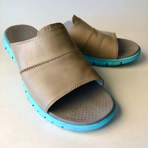 Cole Haan ZeroGrand Slides Mens Size 12M Gray and Blue