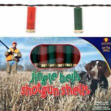 Shotgun Shell Christmas String Lights, 10 Holiday Hunter Jingle Shell Lights