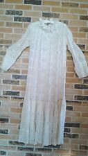 Antique Edwardian Off White Embroidered Sequin Chemise Dress - Unsized .