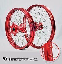 HONDA FRONT & REAR WHEEL SET CRF 450R 450 R CRF450R CRF450 WHEELS RED HUB 2013