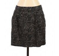 GAP Women's Size 4 Skirt Black & Taupe Print Lined Career Zipper Back Pockets