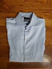 Emporio Armani Blue Striped Button Down Dress Shirt Sz 42/16.5