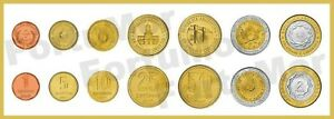 ARGENTINA 5 (x) 7 PCS COIN SET 1 5 10 25 50 c. 1 2 PESOS 2000 - 2011 UNC BIMETAL