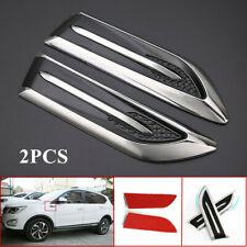 2PCS RV Car Side Cover Auto Hood Air Intake Flow Vent Protector ABS Shark Gills