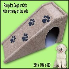 Pet Ramp with opening on the side. Dog Ramp 24Hx14Wx40D, Dog furniture.