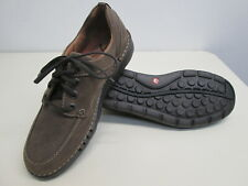 New Clarks Unnature Time Unstructured Brown Leather comfort Lace up Shoes sz 9 M