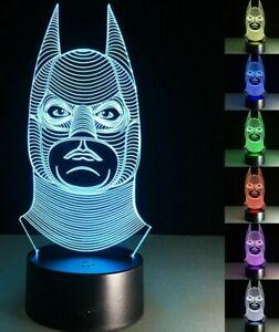 Batman 3D LED Night or Desk Lamp (7 colors, USB)