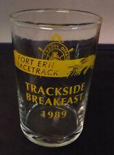 Fort Erie Racetrack. Trackside Breakfast Glass - 1989. Ontario Jockey Club 3.5in