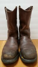 Men's Red Wing PECOS #2231 Steel Toe Boots size 11.5 B (brown)