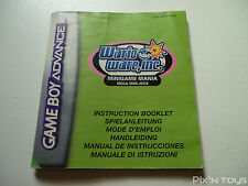 NINTENDO GBA / Notice Instruction / WarioWare Inc. [ AGB-AZWP-NEU6 ]