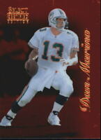 1996 Select Certified Red Miami Dolphins Football Card #55 Dan Marino