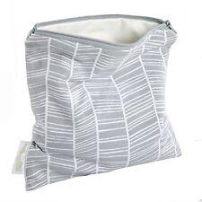 Woombie B-Green Snack Bags (Zen Gray herringbone, One Size)