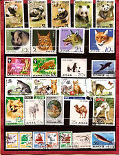COREE  Animaux :sanglier,loup,panda,chiens,chat,tigre,ruminants,divers  282T1