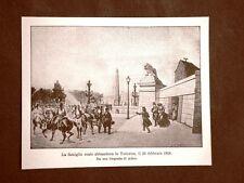 Re Luigi Filippo di Borbone-Orléans e famiglia abbandonano le Tuileries nel 1848