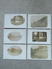 6x Vintage c1920s Real Photo Postcards - unknown place and people