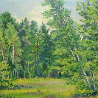 Antique Signed Original Summer Landscape Oil Painting G. D. Lynn Forest Meadow