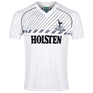 Tottenham Hotspur 1986 Retro Football Shirt Short Sleeves V-Neck Top - Mens