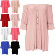 Unbranded Short Sleeve Tops & Shirts for Women with Buttons