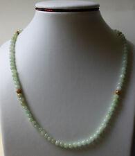 "100% Natural (Grade A) Untreated Jade Jadeite Bead Necklace 5.5mm 20"""