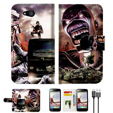 Iron Maiden Wallet TPU Case Cover For Optus ZTE Fit 4G Smart -- A014