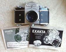 Exakta Varex VX Dresden with Manuels/case +Tessar 50mm f2.8 Carl Zeiss Jena lens