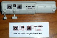 1968 CHEVROLET EL CAMINO GAUGE FACES for 1/25 scale AMT KITS
