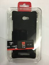 HTC 8X C625B Fitted Hard Case - Black by Metal-Slim *Free Screen Guard Protector