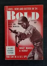 Vintage Bold Pocket Magazine for Men February 1954 Vol 1 No 2 - You can be a Spy