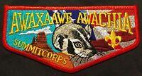 MERGED AWAXAAWE AWACHIA OA 535 TRAPPER TRAILS COUNCIL SUMMIT CORPS SERVICE FLAP