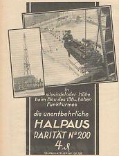 Y5077 Sigarette HALPAUS Raritat - Pubblicità d'epoca - 1925 Old advertising