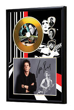 Lou Reed Gold Vinyl Look CD, Autograph & Plectrum Display #2