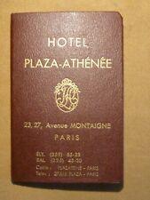 Hotel Plaza-Athénée,23,27 avenue Montaigne,Paris,plan de Paris,XXè.palace Paris.