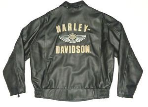 HARLEY DAVIDSON 100TH ANNIVERSARY LEATHER BOMBER JACKET MENS XL  X- LARGE   38