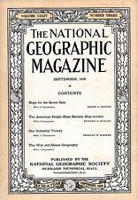 1918 National Geographic September - Ship issue; War and ocean geography